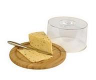 Бамбуковая доска для сыра с пластиковой крышкой, Vinzer 69927