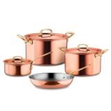 Набор посуды из 4-х предметов, медь с нержавеющим покрытием, серия Gustibus, GUSTIBUS-4, RUFFONI, Италия