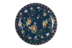 Чашка с блюдцем Флора (синяя) в подарочной упаковке