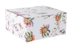Чашка с блюдцем Флора (белая) в подарочной упаковке
