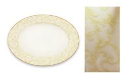 Блюдо овальное сервировочное фарфоровое Версаль Наруми 32 см
