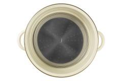 Кастрюля эмалированная со вставкой-пароваркой (крышка стекло) Прованс