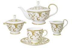 Чайный сервиз из 17 предметов на 6 персон Престиж белый