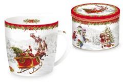 Кружка Дед Мороз в санях