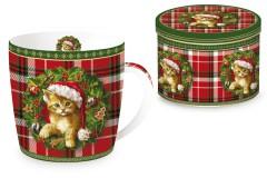 Кружка Рождественский котенок
