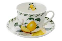 Чашка с блюдцем Лимон в подарочной упаковке