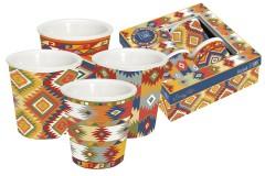 Набор из 4-х кружек д/эспрессо Ацтеки в подарочной упаковке