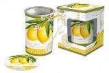 Кружка с метал.ситечком и крышкой Лимон в подарочной упаковке