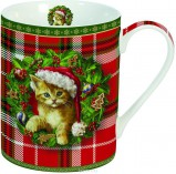 Кружка Новогодний котенок 300мл