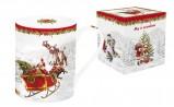Кружка R2S Дед Мороз в санях 300мл