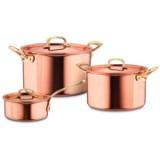 Набор посуды из 3-х предметов, медь с нержавеющим покрытием, серия Gustibus, GUSTIBUS-3, RUFFONI, Италия