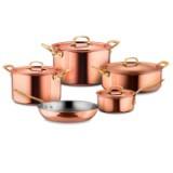 Набор посуды из 5-ти предметов, медь с нержавеющим покрытием, серия Gustibus, GUSTIBUS-5, RUFFONI, Италия