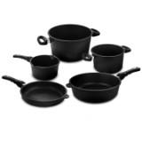 Набор посуды из 5-ти предметов, литой алюминий с антипригарным покрытием, толщина дна - 10 мм, серия Frying Pans, AMT 5-1, AMT, Германия
