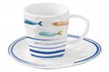Чашка с блюдцем Морской берег в подарочной упаковке