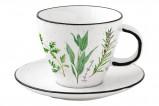 Чашка с блюдцем Herbarium 0,25л в подарочной упаковке