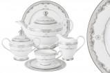 Чайный сервиз Корона (серебро) 42 предмета на 12 персон