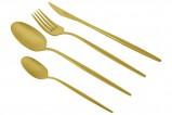 Набор столовых приборов Cosmos PVD Gold (матовый) 24 предмета на 6 персон
