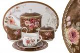 Чайный сервиз Английская роза 40 предметов на 12 персон