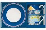 Набор из 2-х чашек с блюдцами 0,24л Синее море в подарочной упаковке