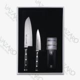 Набор ножей 3 предмета, (2 ножа и точилка), серия GOU, YAXELL, Япония