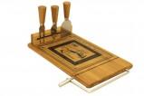 Набор для сыра: доска, леска, 3 ножа