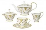 Чайный сервиз из 15 предметов на 6 персон (белый) Анатолия