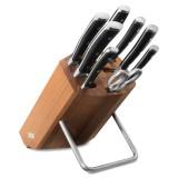 Набор из 6 - ти ножей с мусатом и ножницами на деревянной подставке, серия Classic Ikon, WUESTHOF, Золинген, Германия