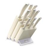 Набор кухонных ножей 9 предметов в подставке, серия Ikon Cream White, WUESTHOF, Золинген, Германия