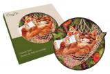 Подставка керамическая Кошки (рыжая в гамаке)