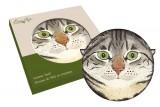 Подставка керамическая Кошки (серая с зелёными глазами)