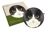 Подставка керамическая Кошки (чёрная)