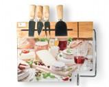 Набор для сыра: разделочная доска, леска, 4 ножа