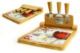 Набор для сыра: разделочная доска (24х22 см) и 3 ножа